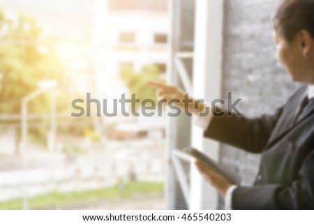 Business Woman In Hotel Room Relaxing With Tablet