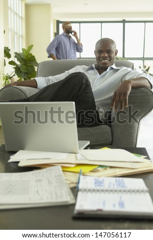 Businessman looking confident in office
