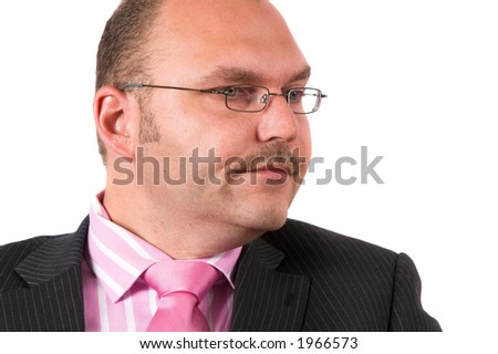 Businessman looking very bored while waiting
