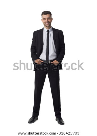 Businessman portrait isolated on white background