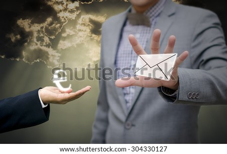 Businessman trading news with euro money symbol concept
