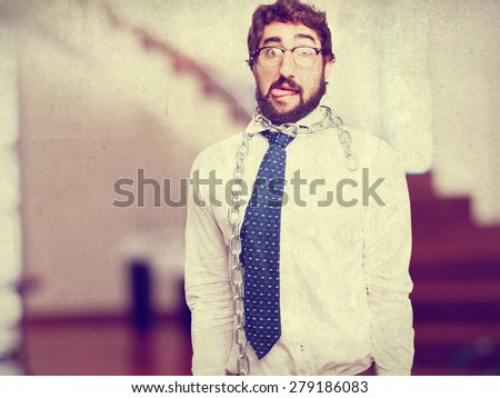 businessman with a chain