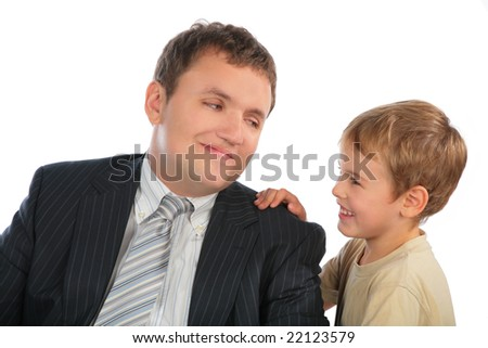 businessman with child