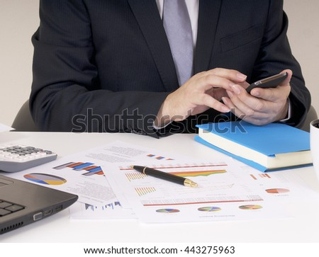 businessman working his job at his office