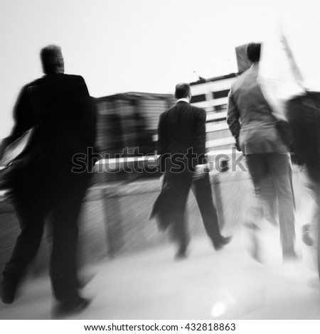 Businessmen walking to their workplace.