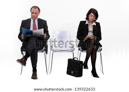 Businesspeople waiting