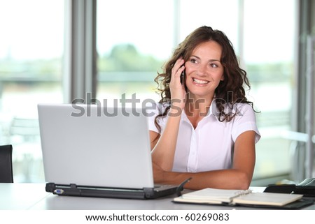Businesswoman working in the office