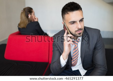 Bussines people at modern working office