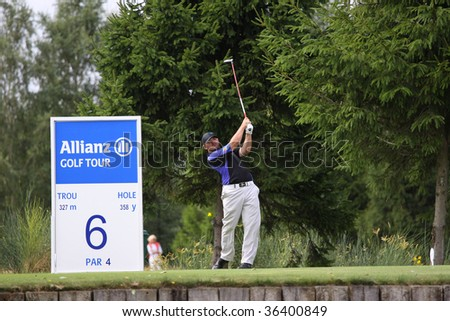BUSSY-GUERMANTES, FRANCE  AUGUST 27: Pfaller (AUT) at the Prevens Trophee, an Alps and Allianz Golf Tour event, August 27, 2009 in Bussy-Guermantes Golf Club, France,