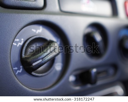 Button air control in car