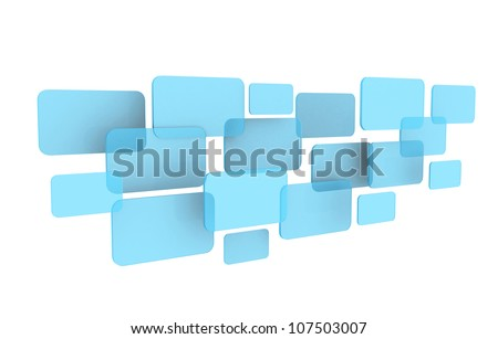 button touch screen interface, isolated on white background (Save Paths For design work)