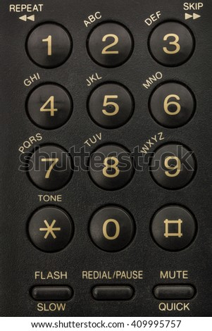 Buttons of phone keypad close-up
