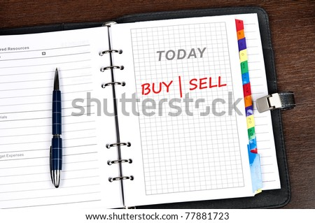 Buy|Sell message on today page
