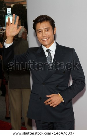 "Byung Hun Lee at the premiere of Summit Entertainment's ""RED 2,"" Village Theater, Westwood, CA 07-11-13"