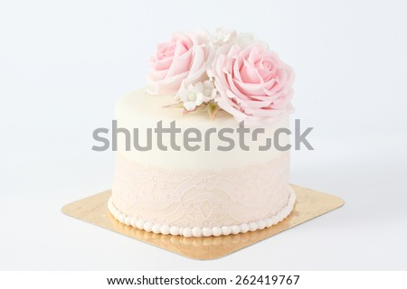 cake decorated with sugar paste flowers
