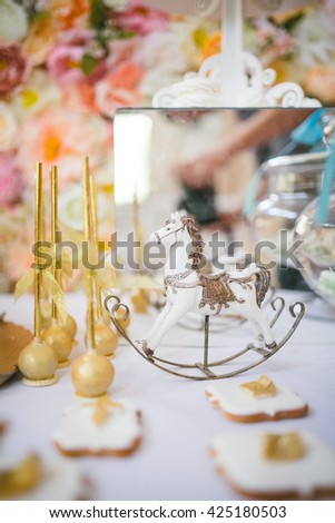Cake Decorating Stock Images : Delicious Catering Canapes On Buffet Tableselective Stock ...