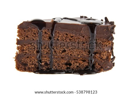 cake isolated on white background closeup