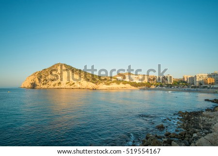 Cala de Finestrat resort beach, next to Benidorm, Costa Blanca, Spain
