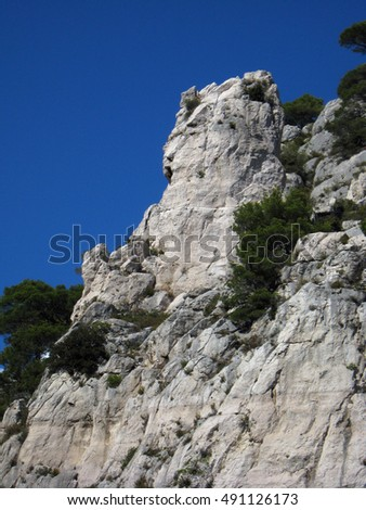 "calanques are natural fiords or inlets of limestone or dolomite in southern France near Cassis. This formation is known as the ""finger of god"""