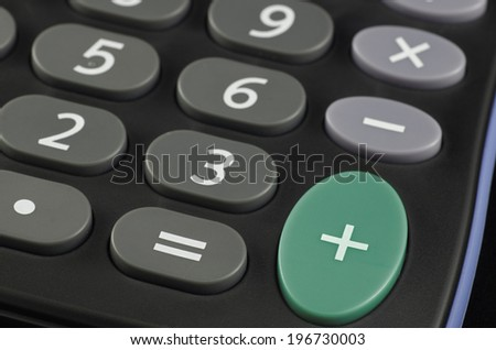 calculator focus on + button