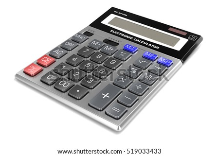 calculator  isolated on white background 3d