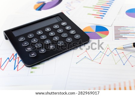Calculator over financial charts