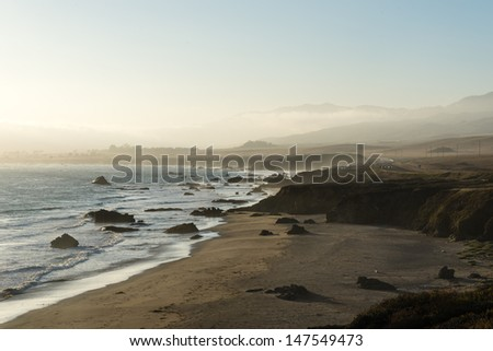 California Central coast in Cambria - sunset