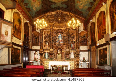 Camara de Lobos, Madeira, Church interior