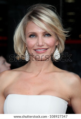 Cameron Diaz arriving for the UK Premiere of 'What To Expect When You're Expecting' at the Imax Cinema, London. 22/05/2012 Picture by: Alexandra Glen / Featureflash