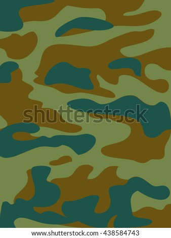 Camouflage pattern background. Woodland style.  illustration