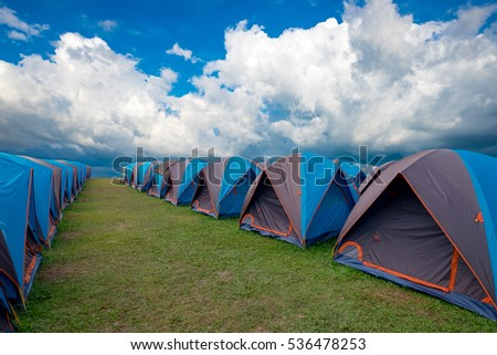 Camping grounds Doi Samer Dow from National Park sri nan from nan province,Thailand