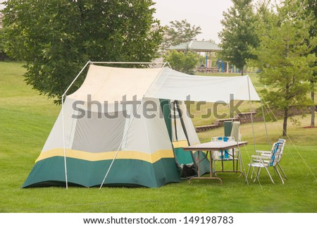 Camping in the backyard