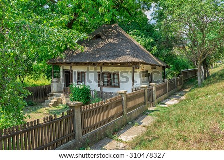 "CAMPURI, ROMANIA - AUGUST 29, 2015: Memorial house of ""Ion Roata"" a romanian peasant, who supported the election Cuza as Prince of Moldavia and also helped to union of the two Danubian Principalities"