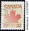 CANADA - CIRCA 1982: A stamp printed in Canada shows Maple Leaf, symbol of Canada, circa 1982 - stock photo