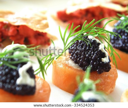 Canape selection on slate platter stock photo 178810184 for Canape selection