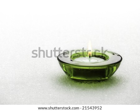 Candle on snow