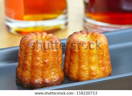 Canelés french traditional dessert from Bordeaux.
