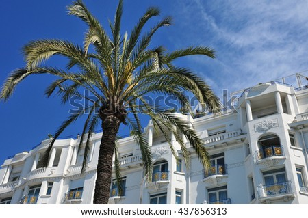 Cannes, France - april 15 2016 : a luxury hotel