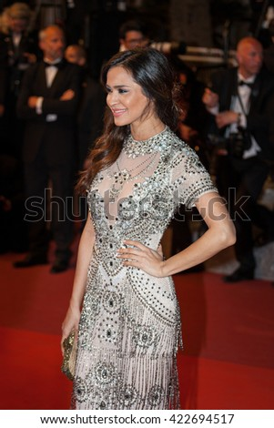 Cannes, France - 16 MAY 2016 - A guest attends the 'Hands Of Stone' Premiere during the annual 69th Cannes Film Festival