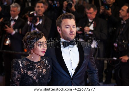 Cannes, France - 16 MAY 2016 - Actress Ruth Negga and actor Joel Edgerton departs from the 'Loving' Premiere at the annual 69th Cannes Film Festival