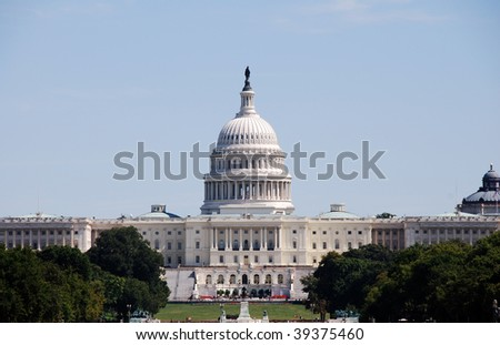 Capital building in Washington DC