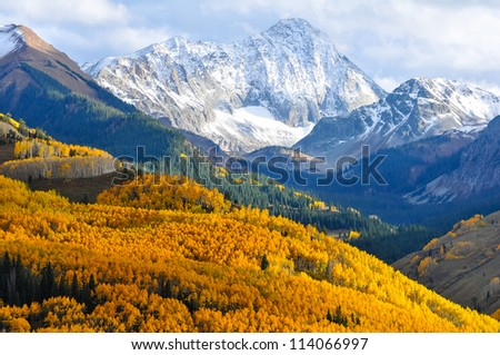 Capitol Peak, a distinctive 14,000' mountain in the Elk Mountains of Colorado