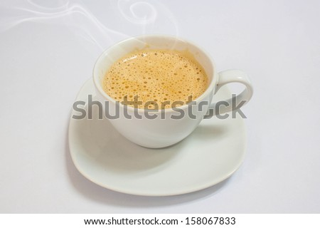 cappuccino coffee cup in white background