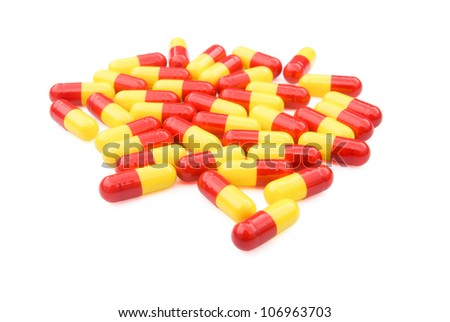 capsules with clipping path