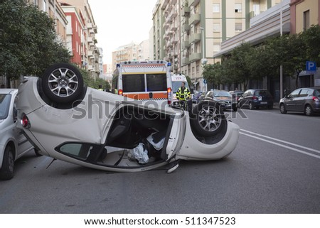 car accident in the Italy city