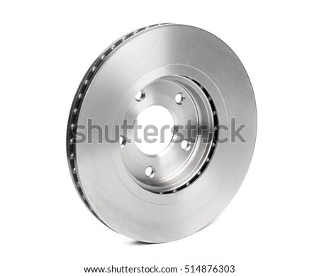 Car brake disc isolated on white background