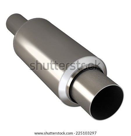 Car Exhaust Pipe isolated on white background. High resolution