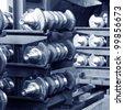 Car parts: crankshaft, close close-up. - stock photo