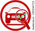 car service icon - stock photo