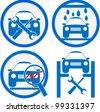 car service icon - stock photo
